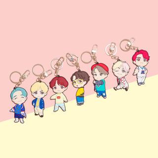 BTS 防弾少年団 ソウル POP UP STORE キャラクター キーリング(アイドルグッズ)