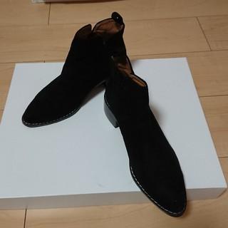 ディーホリック(dholic)の合革 ショートブーツ 黒 (ブーツ)