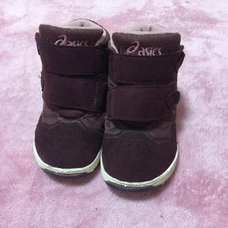 asics - asics アシックス キッズ スノーシューズ ブーツ 16cm ブラウン