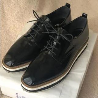 ダイアナ(DIANA)のDIANA ダイアナ 厚底ローファー エナメルブラック 25cm ちぃ様専用(ローファー/革靴)