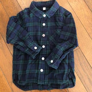 MUJI (無印良品) - 無印 フランネルチェックシャツ 90センチ