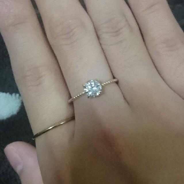 0.816!ダイヤ リング 13号 k18 レディースのアクセサリー(リング(指輪))の商品写真