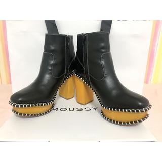 マウジー(moussy)の《美品》MOSSY WOOD SOLE ブーツ Mサイズ(ブーツ)
