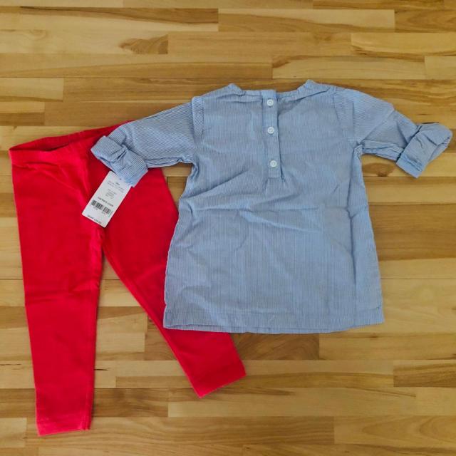 carter's(カーターズ)の新品未使用!カーターズ18ヶ月ベビー上下セット キッズ/ベビー/マタニティのベビー服(~85cm)(Tシャツ)の商品写真