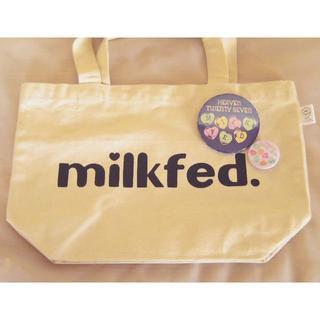 ミルクフェド(MILKFED.)のmilkfedトートバッグ☆おまけ付き☆缶バッジ2ヶ(トートバッグ)