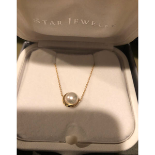 STAR JEWELRY - STAR JEWELRY K18 PEARL MOON NECKLACE(S)