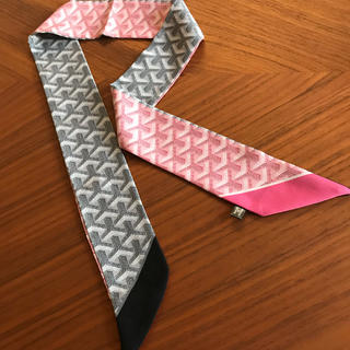 GOYARD - ツイリースカーフg柄ピンク