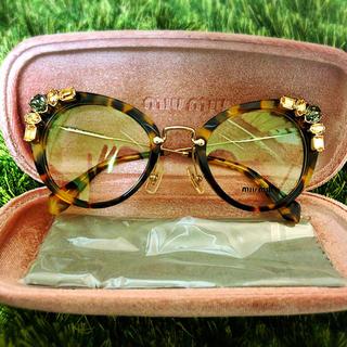 miumiu - miumiu ミュウミュウ ビジュー 眼鏡フレーム サングラス 新品未使用
