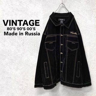 【USED】希少 ロシア製 velvet stitch coverall