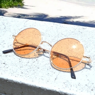 HARE - カラーグラス メガネ オレンジ ROOPTOKYO