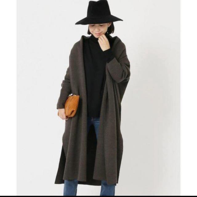DEUXIEME CLASSE(ドゥーズィエムクラス)の完売新品◆Deuxieme Classe◆スムースニットガウンコート2018AW レディースのジャケット/アウター(ニットコート)の商品写真
