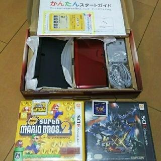 ニンテンドー3DS - 超美品  Nintendo 3DS 本体 フレアレッド モンハンダブルクロス