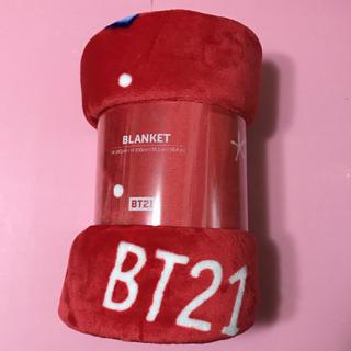 ボウダンショウネンダン(防弾少年団(BTS))の防弾少年団 BTS★BT21 ウィンター クリスマス ブランケット(アイドルグッズ)