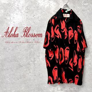 ワコマリア(WACKO MARIA)の【USED】希少 Aloha Blossom heel design shirt(シャツ)