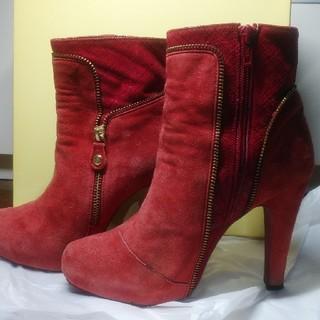 プールサイド(POOL SIDE)のプールサイド赤のブーツ(ブーツ)