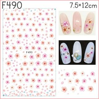 F490◇ネイルシール 花 フラワー 桜 ピンク 花びら 春 (ネイル用品)