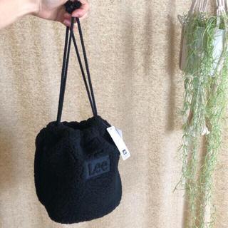 Lee - 新品未使用✨Leeのボア巾着 黒 タグ付き