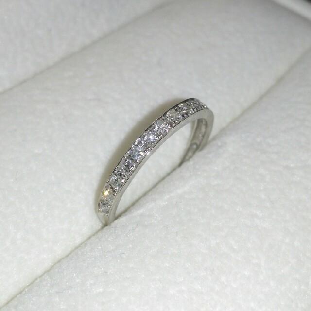 Pt900 ハーフエタニティ ダイヤ 0.25ct レディースのアクセサリー(リング(指輪))の商品写真
