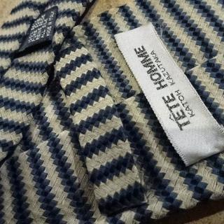 TETE HOMME - TETE HOMME ボーダー柄 ネクタイ