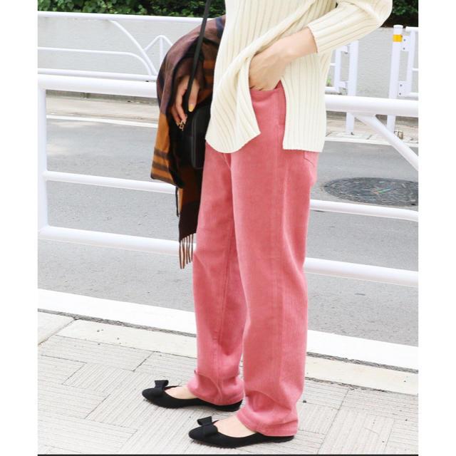 IENA(イエナ)のイエナ  新品 コールストレートパンツ レディースのパンツ(カジュアルパンツ)の商品写真