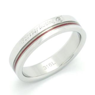 赤い糸 ステンレスリング(リング(指輪))