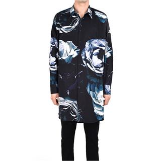 LAD MUSICIAN - long shirt 花柄 17ss ビッグローズ