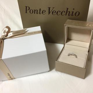 PonteVecchio - おまけあり♡ポンテヴェキオ★ K18WGダイヤモンドリング ♯11 お花モチーフ