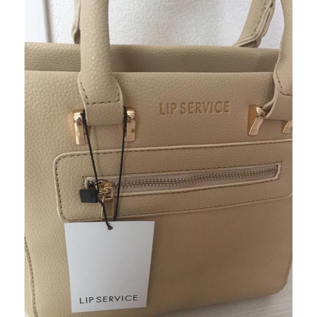 LIP SERVICE(リップサービス)の新品ミニバッグ  ベージュ レディースのバッグ(ハンドバッグ)の商品写真