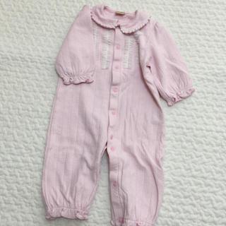 petit main - プティマイン 2wayオール ピンク 衿