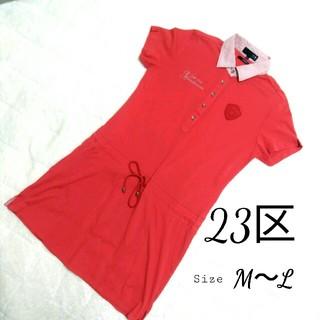 ニジュウサンク(23区)の23区スポーツ ポロシャツ ワンピ ゴルフウェア 半袖(ミニワンピース)