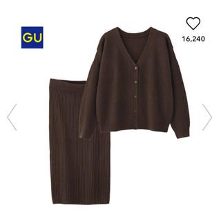 GU - タグ付き新品 GU マルチウェイセットアップ ブラウン
