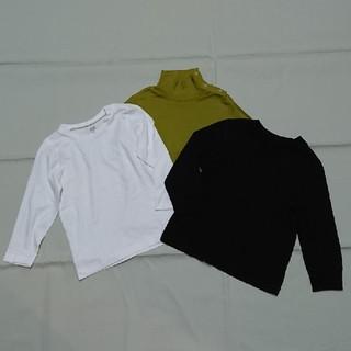 ユニクロ(UNIQLO)のH&Mユニクロオールドネイビー長袖三枚セット(Tシャツ/カットソー)