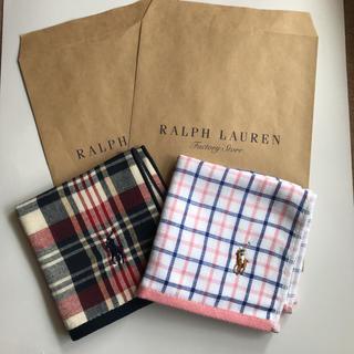 Ralph Lauren - ラルフローレン ハンカチ 2枚セット