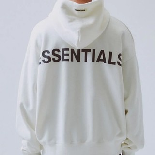 FEAR OF GOD - FOG-ESSENTIALS Pullover Hoodedパーカー白L