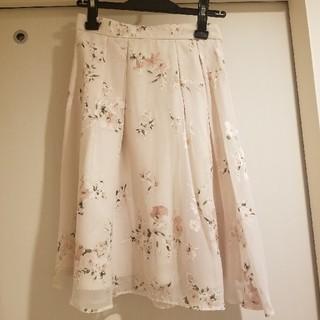 レッセパッセ(LAISSE PASSE)のレッセパッセ 膝丈フラワースカート(ひざ丈スカート)