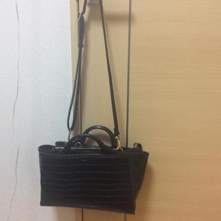 Ungrid - 美品♡ ungrid 2wayクロコ型押し黒バッグ