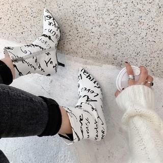 ディーホリック(dholic)の2カラー アンクルブーツ スティレットハイヒールブーツ ヨーロッパ(ブーツ)