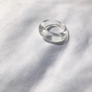 トゥデイフル(TODAYFUL)のNarrow clear ring (リング(指輪))