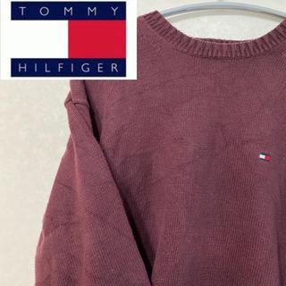 トミーヒルフィガー(TOMMY HILFIGER)のトミーフィルフィガー ニット セーター ワンポイント フルジョ 90s 90年代(ニット/セーター)