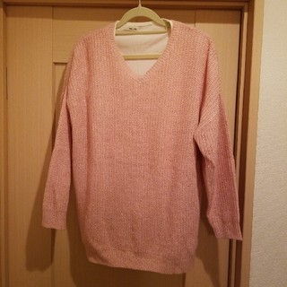 シューラルー(SHOO・LA・RUE)のシューラルー ピンク ニット M ラメ Tシャツ 長袖(ニット/セーター)