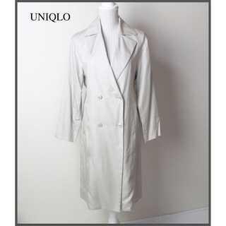ユニクロ(UNIQLO)のユニクロ★テンセル素材 トレンチコート とろみ 春秋 S ベージュ 通勤(スプリングコート)