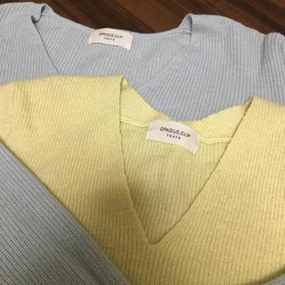 オペークドットクリップ(OPAQUE.CLIP)のオペーク セーター2枚組(ニット/セーター)