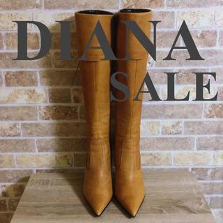 DIANA - DIANA ダイアナ ブーツ ブラウン 24cm レザー