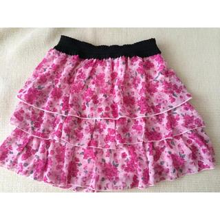 クランプリュス(KLEIN PLUS)のミッシェルクラン  KLEIN+  ピンク ティアードミニスカート  (ミニスカート)