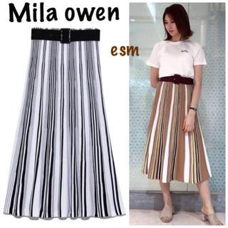 ミラオーウェン(Mila Owen)のMila owen☆ミラオーウェン☆パネル切り替えニットスカート(ロングスカート)