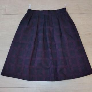 ナチュラルビューティー(NATURAL BEAUTY)のナチュラルビューティー チェックラメスカート(ひざ丈スカート)