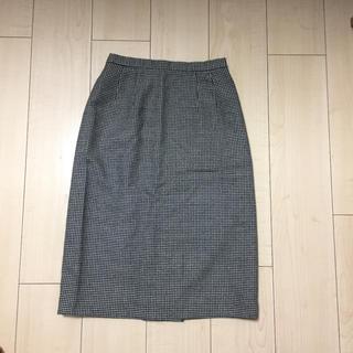 ニューヨーカー(NEWYORKER)の美品♡ニューヨーカー 千鳥柄タイトスカート 日本製(ひざ丈スカート)