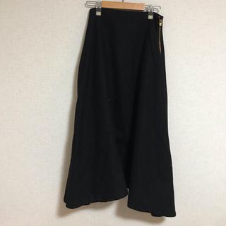 マディソンブルー(MADISONBLUE)のマディソンブルー ウールフレアスカート ブラック(ロングスカート)