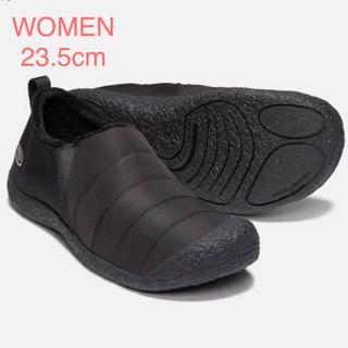 キーン(KEEN)のKEEN ハウザー II WOMEN 23.5cm モノクロームブラック(スリッポン/モカシン)