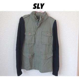 スライ(SLY)のSLY ❤︎ 袖ニットミリタリージャケット(ミリタリージャケット)